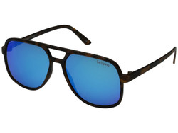 Le Specs Women's Cousteau Sunglasses in Matte Tort/ Ice Blue