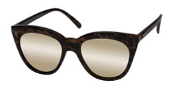 Le Specs Women's Halfmoon Magic Sunglasses in Milky Tort