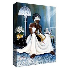My cup Runneth Over Art Print On Canvas 18 x 24 - Annie Lee