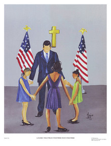 A Family That Prays Together Stays Together Art - Annie Lee