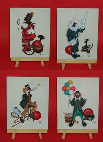 Clown Plaques Set of 4 - Annie Lee