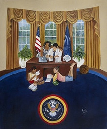 Oval Office - Obama Series Art Print - Annie Lee