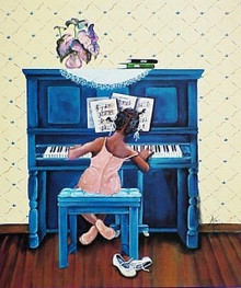 Rhapsody In A Minor Art Print - Annie Lee