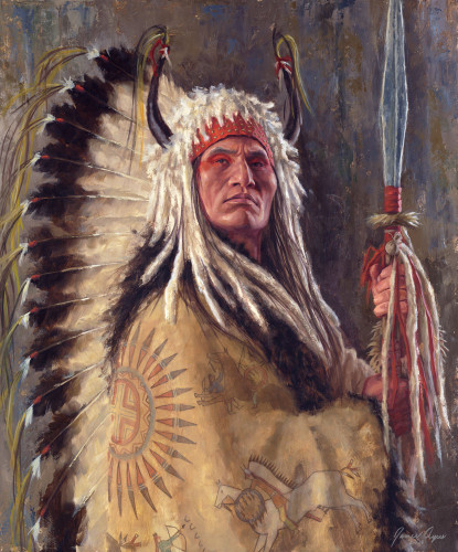 Black Rock, A Two Kettle Chief - Lakota