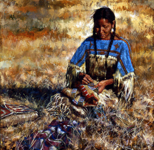 Her Husband's Shirt - Lakota