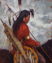 The Warrior, Crow Warrior giclee, by James Ayers