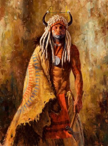 Arikara Peace Maker, Arikara Painting, James Ayers