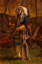 Evidence of Victory, Cheyenne Painting, James Ayers