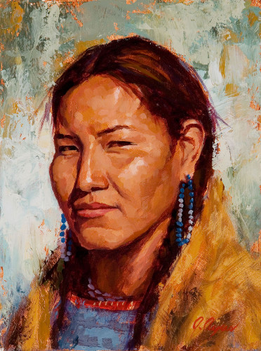 Lovely Lakota Painting, Native American Painting, James Ayers