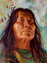 Shoshone Strength, Shoshone Painting, James Ayers