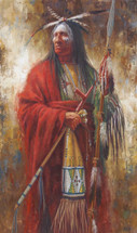 The Majestic Leader, Lakota Warrior Painting, James Ayers
