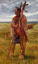 Protector-of-the-Plains-Crow-Warrior-Painting-Native-American-James-Ayers