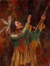 Blackfoot-Reverence-Blackfoot-Peace-Pipe-Giclee-Native-American-James-Ayers