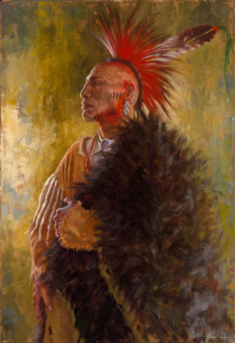 Ozark-Mountain-Warrior-Osage-Nation-Warrior-Giclee-James-Ayers