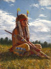 Lakota Sentinel, Lakota warrior painting, James Ayers