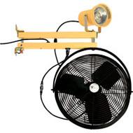 """XA627 DBL Strut w/Fan (incandescent/metal head/24"""" arm)"""
