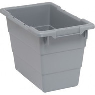 "CD584 Cross Stack Plastic Bins (GREY) 17-1/4""Lx11""Wx12""H"