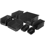 "CF435 RECYCLED Bins (BLACK) 4-1/8""Wx7-3/8""Dx3""H"