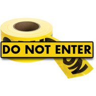 "SED021 Hanson Tape (1.5-mil/1000'L) ""DO NOT ENTER"""