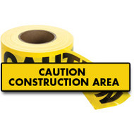 SED024 Hanson Tape  (2-mil/1000'L) CAUTION CONSTRUCTION AREA