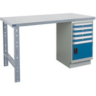 "FI635 Workbenches (steel-wood fill tops) 30""Wx60""Lx34""H"