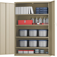 "FJ869 Storage Cabinets HI-BOY/Deep 48""Wx24""Dx72""H"
