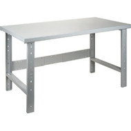 "FF669 Workbenches (w/steel/wood-fill tops) 30""Wx60""Lx34""H"