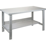 "FF707 Workbenches (w/steel/wood-fill tops) 36""Wx72""Lx34""H"