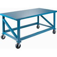 """FH465 EXHD Workbenches (Mobile) 72""""Wx30""""Dx34""""H"""