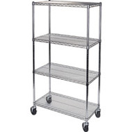 "MJ530 Chromate Shelf Carts  36""Wx24""Dx74""H"