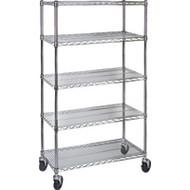 "MJ537 Chromate Shelf Carts  48""Wx24""Dx86""H"