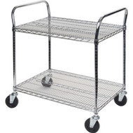 "MK782 Chromate Carts 2-shelf 36""Wx18""x39""H"