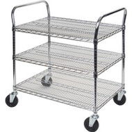 "MJ542 Chromate Carts 3-shelf 60""Wx18""x39""H"