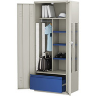 FI091 Deluxe Gear Lockers (GREY/with drawer)