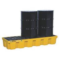SBA854 Drum Spill Pallets 3-drum With drain
