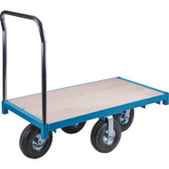 "MB258 Wood Platform Diamond casters 24""Wx48""L"