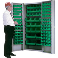 "CB691 Storage Cabinets Green bins38""Wx24""Dx72""H"