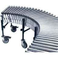 "MN868 Flexible/Expandable Roller Conveyors 24""Wx20'L"