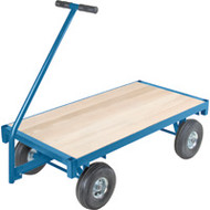 "MD188 Ergonomic Wagons (wood deck) 30""Wx60""L"