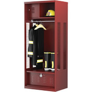 FI101 Standard Gear Lockers (RED w/foot locker)