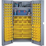 "CF354 Storage Cabinets YLW bins38""Wx24""Dx72""H"