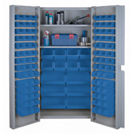 "CF355 Storage Cabinets Blue bins38""Wx24""Dx72""H"