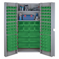"CF357 Storage Cabinets Green bins38""Wx24""Dx72""H"