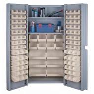 "CF358 Storage Cabinets Stone bins38""Wx24""Dx72""H"