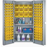 "CF373 Storage Cabinets YLW bins38""Wx24""Dx72""H"