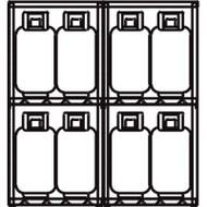 """SAI575 LPG 16-cyl Cages60""""Wx32""""Dx65""""H"""