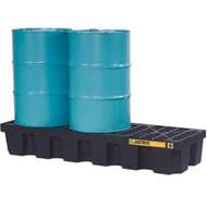 SBA847 Drum Spill Pallets 3-drumWith drain