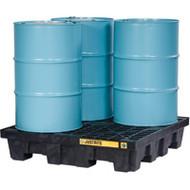 SBA849 Drum Spill Pallets 4-drumWith drain