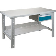 "FG292 Workbenches (steel-wood fill tops) 36""Wx60""Lx34""H"