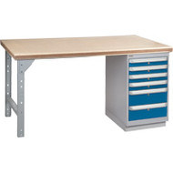 "FG443 Workbenches (steel-wood fill tops) 24""Wx60""Lx34""H"